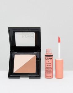 Пудра и блеск для губ NYX Professional Make-Up эксклюзивно для ASOS - Мульти