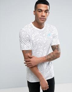 Белая футболка с принтом в виде завитков Nike 834699-100 - Белый