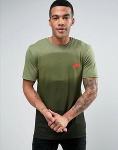 Зеленая футболка с градиентным принтом Nike 834737-387 - Зеленый
