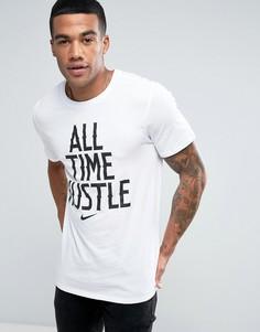Белая футболка с большим слоганом Nike 834711-100 - Белый