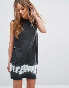 Свободное платье без рукавов со вставкой тай-дай RVCA - Черный