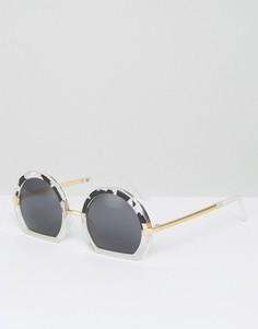 Круглые очки с контрастной оправой ASOS - Мульти