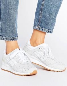 Белые замшевые кроссовки в горошек металлик Asics Gel-Lyte Iii - Белый