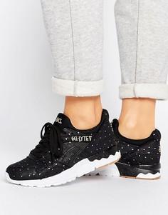 Черные замшевые кроссовки в горошек металлик Asics Gel-Lyte V - Черный