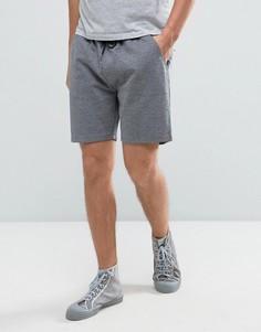 Серые меланжевые трикотажные шорты с завязкой Farah Tarrant - Серый