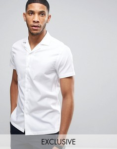 Фактурная приталенная рубашка с воротником в виде лацканов Noak - Белый