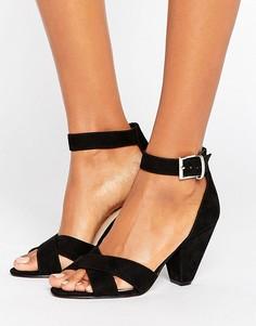 Босоножки на каблуке ASOS HAT TRICK - Черный
