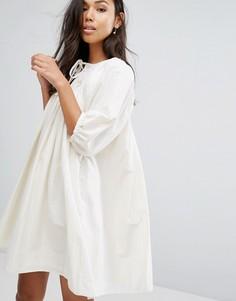 Платье с рукавами-фонариками Ivana Helsinki Moomin Liina - Серый