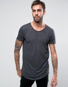 Меланжевая трикотажная футболка Lee - Черный