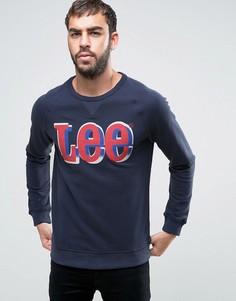 Свитшот с логотипом Lee - Темно-синий