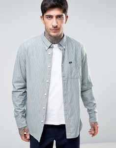 Рубашка в полоску классического кроя на пуговицах Lee - Черный