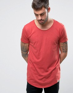 Меланжевая трикотажная футболка Lee - Красный