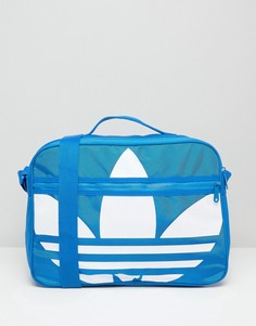 Сумка с логотипом-трилистником Adidas Airliner - Синий