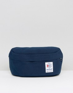 Классическая темно-синяя сумка-пояс Reebok BQ2231 - Темно-синий