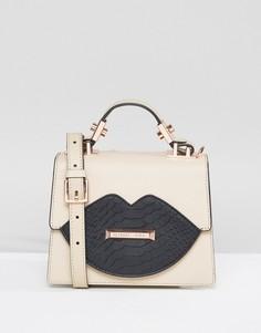Миниатюрная сумка-тоут с ручкой Kendall + Kylie - Бежевый