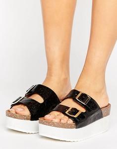 Черные сандалии на платформе RAID Kooper - Черный