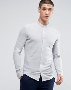 Премиум-рубашка слим с воротником на пуговицах Jack & Jones - Серый