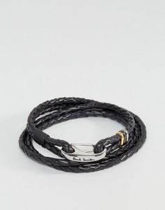 Кожаный черный браслет Paul Smith - Черный