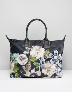 Большая дорожная сумка из нейлона Ted Baker Gem Gardens - Черный