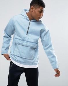 Джинсовая куртка через голову с карманом Kubban - Синий