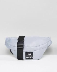 Серая классическая сумка-пояс с логотипом New Balance - Серый
