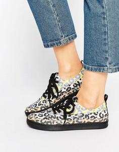 Кроссовки с леопардовым принтом Love Moschino - Мульти