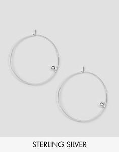 Серебряные серьги-кольца 40 мм ASOS - Серебряный