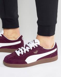 Красные замшевые кроссовки Puma Liga 34146602 - Красный