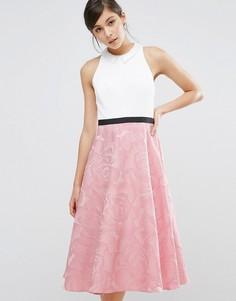 Платье с воротником Coast Bianca - Мульти