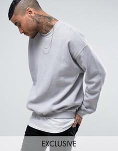 Серый свободный свитшот Reclaimed Vintage Inspired - Серый