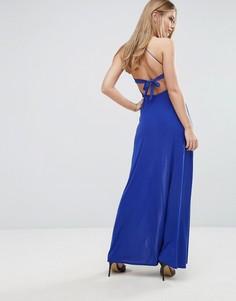 Платье макси с запахом спереди Club L - Синий