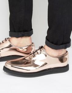 Ботинки на шнуровке медного цвета ASOS - Медный