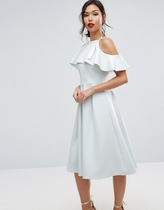Платье миди для выпускного ASOS - Синий