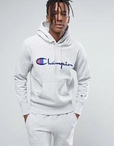 Худи с большим логотипом Champion - Серый