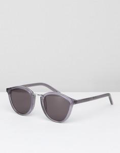 Серые круглые солнцезащитные очки Monokel - Серый