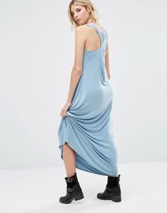 Платье макси с перекрученной спинкой NYTT Anala - Синий