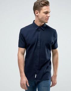 Рубашка из ткани с вафельной текстурой Bellfield - Темно-синий