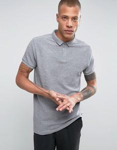 Длинная трикотажная футболка-поло Bellfield - Серый