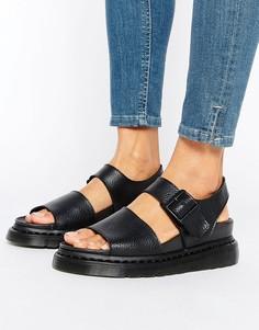 Черные кожаные сандалии с ремешками Dr Martens Romi - Черный