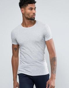 Серая футболка Lindbergh - Белый