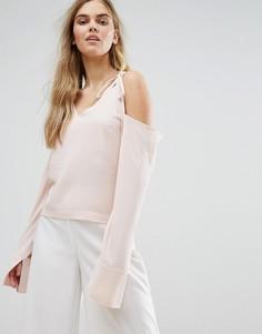 Топ с открытыми плечами и завязками House Of Sunny - Розовый