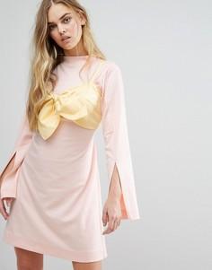 Платье с завязывающимся топом House Of Sunny - Желтый