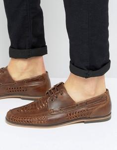 Светло-коричневые кожаные туфли на шнуровке ASOS - Рыжий
