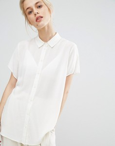Рубашка с короткими рукавами Samsoe & Samsoe Maj - Кремовый