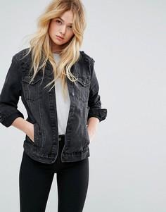 Джинсовая куртка New Look - Черный