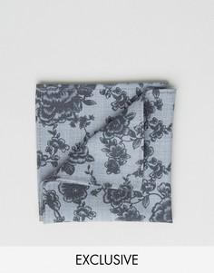 Платок для нагрудного кармана с принтом Noose & Monkey - Темно-синий