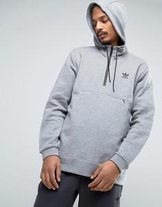 Серая куртка через голову adidas Originals Shadow Tones CE7107 - Серый