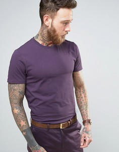 Хлопковая узкая премиум-футболка Devils Advocate - Фиолетовый