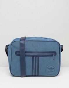 Замшевая сумка Adidas Airliner - Синий