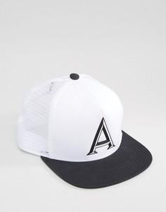 Черно-белая бейсболка Adidas - Белый